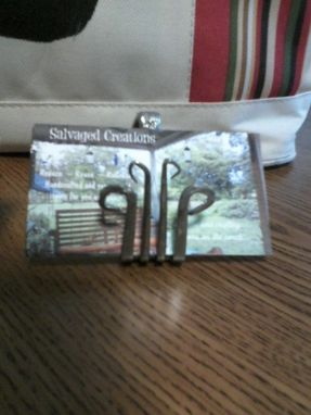 Custom Made Business Card Holder-Repurposed Silverware