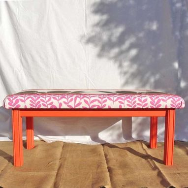 Custom Made Upholstered Bench For Entry Hall, Playroom Or Garden