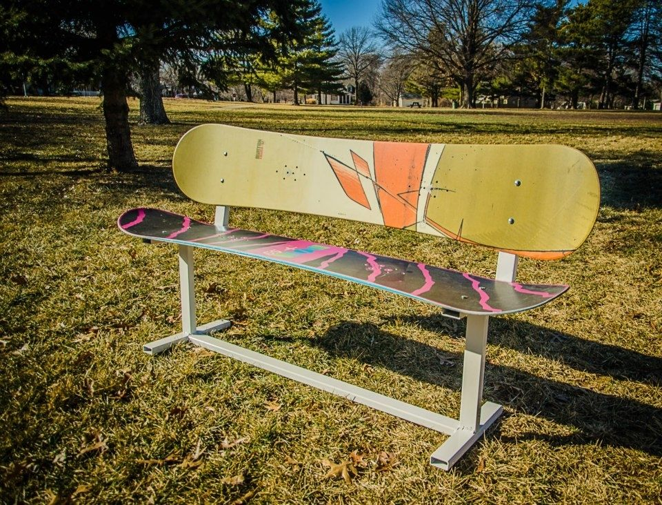 Hand Crafted Custom Built Modern Style Snowboard Bench by Against ...