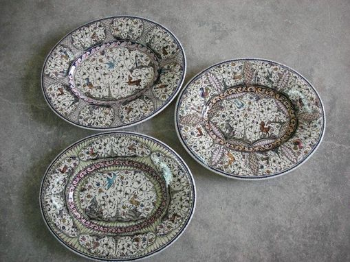 Custom Made Ceramic Handpainted Platters