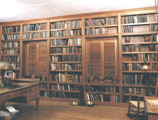 Custom Made Custom Library And Shutters