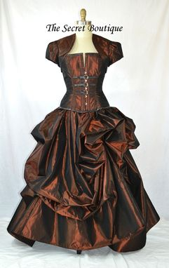Custom Made Steampunk Wedding Gown Copper