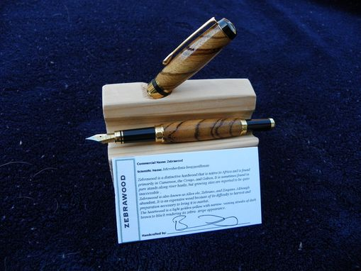 Custom Made Classic Custom Built Wooden Fountain Pen (Choose The Wood You Like) - Free Shipping