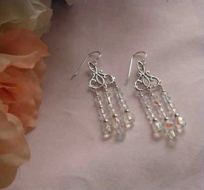 Custom Made Chandelier Earrings For Wedding Or Special Occasions