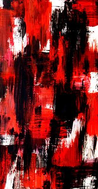 Custom Made Modern Abstract Painting Original On Canvas Titled: Faceless Neighbors