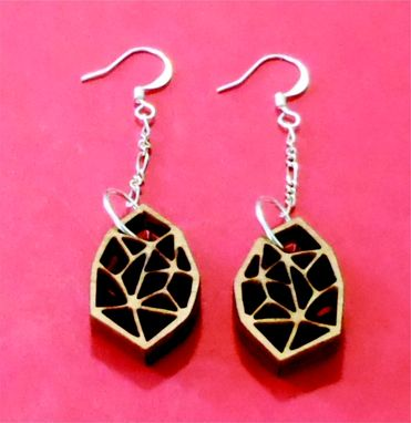 Custom Made Laser Cut Wooden Earrings