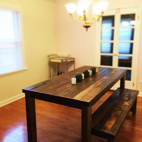 Astonishing Buy A Custom Barnwood Dining Set Dining Table And 2 Ibusinesslaw Wood Chair Design Ideas Ibusinesslaworg
