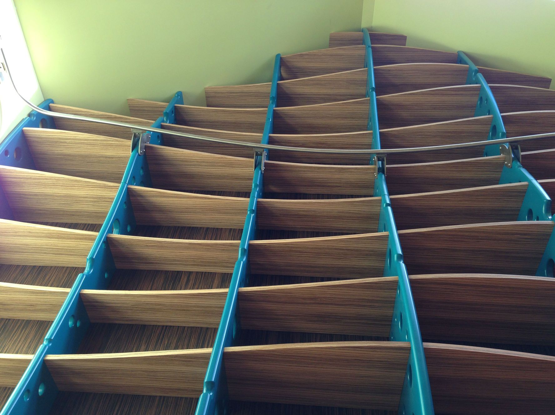 Hand Made Home Library With Library Ladder Built In