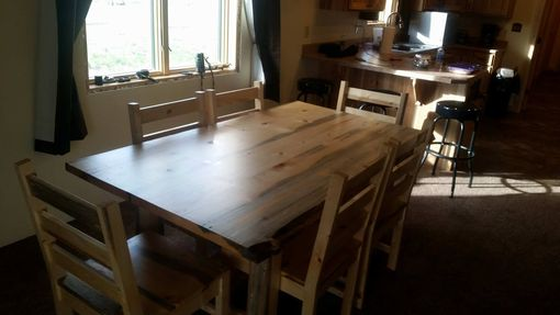 Custom Made Blue Pine Dining Set