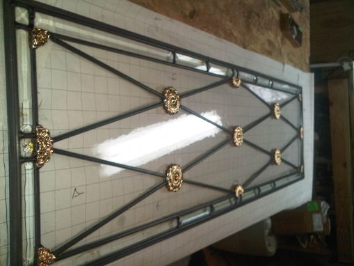 Custom Made Stained Glass Transom By Glassworks Studio Toronto Canada