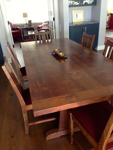 Custom Made California Walnut Dining Table