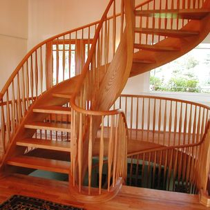 Alex zukowski master woodworks inc salem or for 2 story spiral staircase