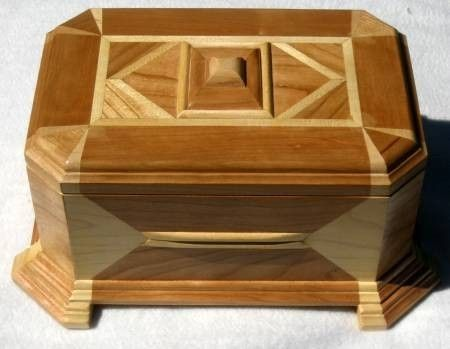 Custom Made Cherry Wood Music Box