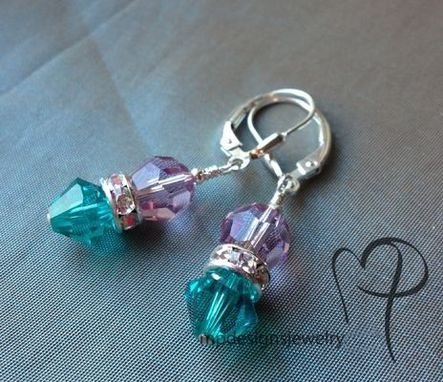 Custom Made Custom Birthstone Swarovski Crystal Earrings