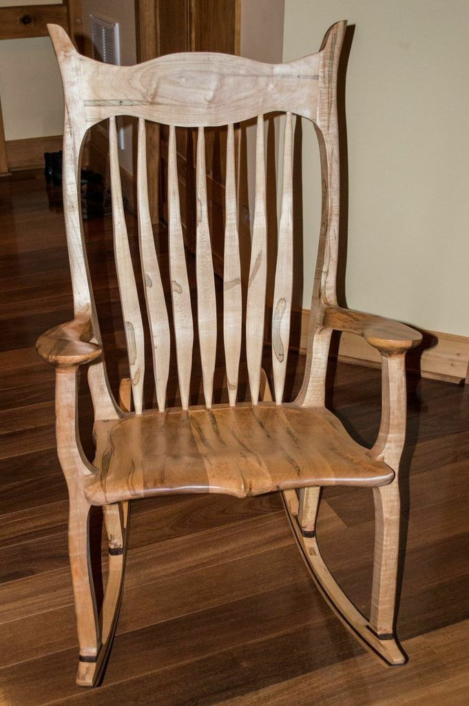 Custom Made Maloof Inspired Rocker In Ambrosia Maple