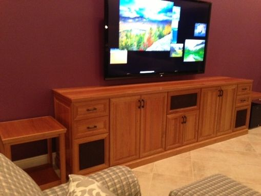 Custom Made Cherry Credenza & Media Cabinet