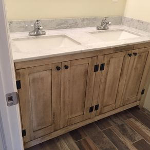 Custom Bathroom Double Vanities custom bathroom vanities | custommade
