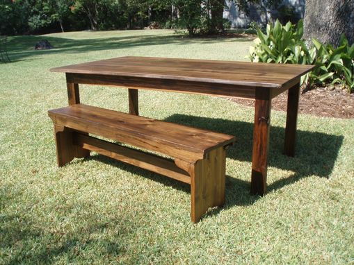 "Custom Made Reclaimed Wood ""Atchafalaya"" Dining Table (Cypress)"