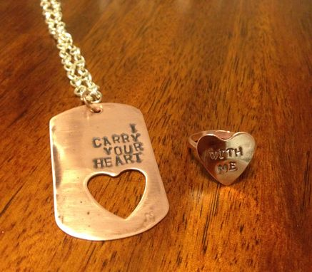 Custom Made Personalized Dog Tag And Ring