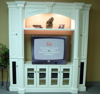 Custom Made Pillar Entertainment Center