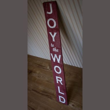 Custom Made Christmas Decor Sign Farmhouse Style Joy To The World Pallet Board