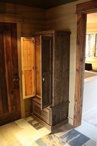 Custom Reclaimed Lumber Gun Cabinet By Tom S Custom