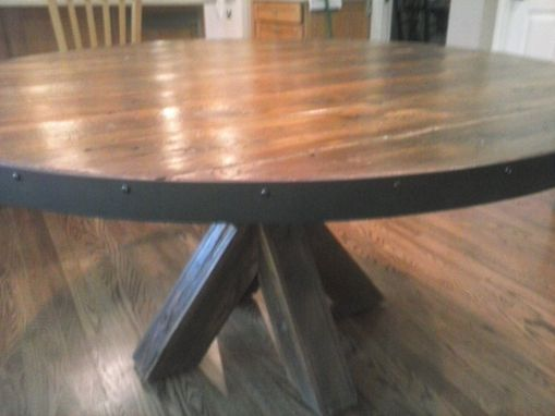 Custom Made Barn Wood Kitchen Table