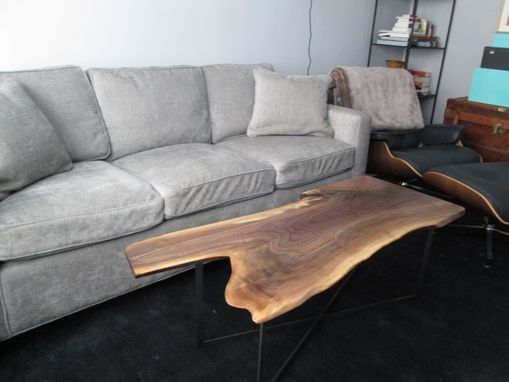 Custom Made Live Edge Black Walnut Coffee Table