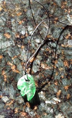 Custom Made Green Glass Pendant