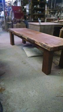 Custom Made Sinker Or Spalted One Board Oak Table With Metal & Wooden Cone Pedestals, 27