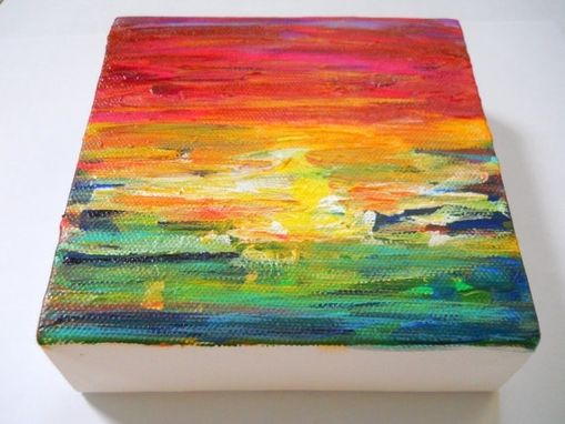 Custom Made Ombre Rainbow Sunset Painting