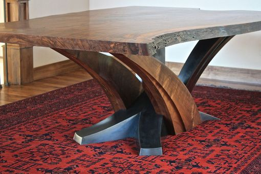 Custom Made Sculpted Walnut Dining Table