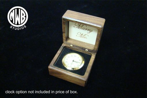 Custom Made Inlaid Infinity Symbol Of Holly In Walnut Box. Free Engraving And Shipping. Rb-25