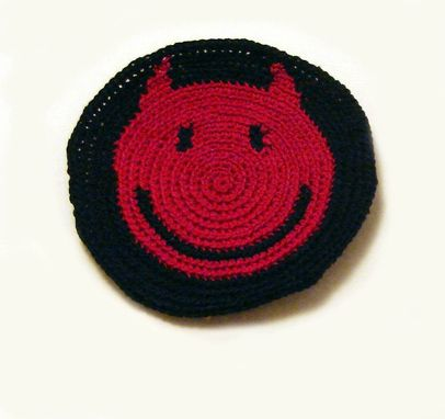 Custom Made Horned Smiley In Black And Red