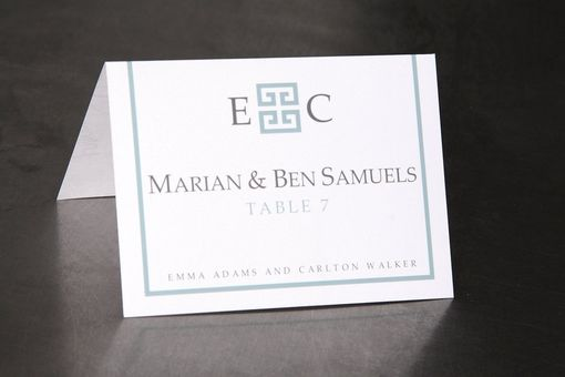 Custom Made Wedding Place Cards Escort Cards Or Seating Cards Geometric Initial Custom Made