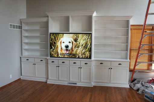 Custom Made Solid Wood Entertainment Center