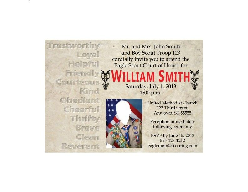 Honor Or Honour On Wedding Invitations: Custom Eagle Scout Court Of Honor Invitation