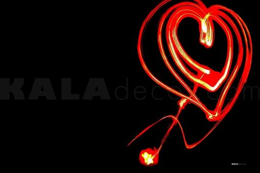 Custom Made Light Heart - Light Painting Art