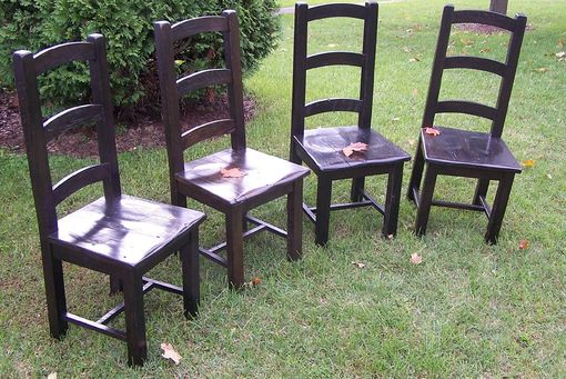 Custom Made Arched Slat Rustic Dining Chairs From Reclaimed Barn Wood
