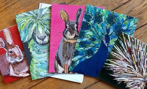 Custom Made Assorted Animal Collage Notecard Set