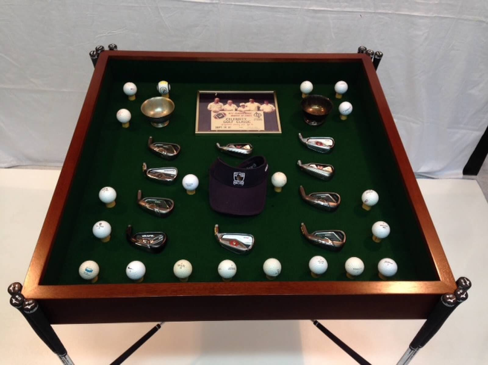 Hand Made Golf Club Table By Designers Furniture