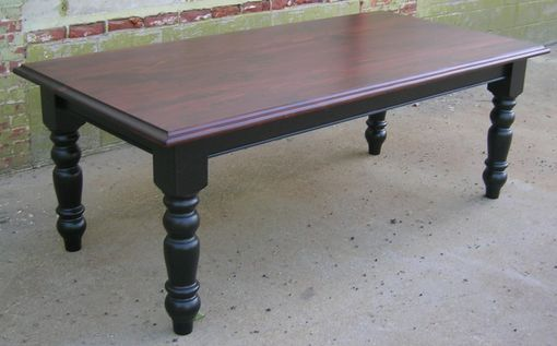 Custom Made Reclaimed Stain Top Dining Table