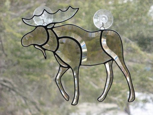 Custom Made Beveled Stained Glass Moose Light Catcher