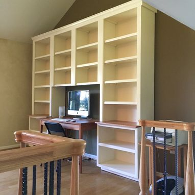 Custom Made Painted Birch Bookcases
