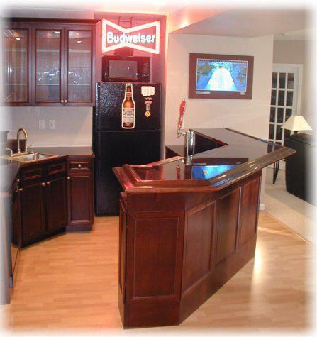 Hand made custom home bar by woodshop artisans - Custom bars for homes ...