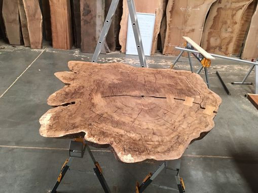 Custom Made White Oak Burl Conference Room Table