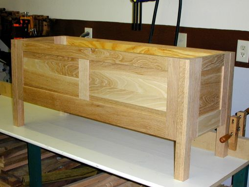 Custom Made Oak Blanket Chest