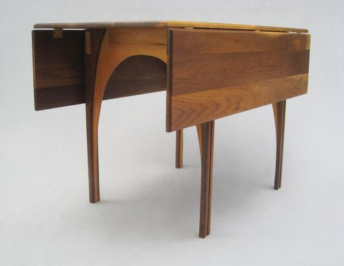 Buy Hand Made Drop Leaf Dining Table Solid Walnut 48