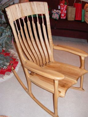 Custom Made Birdseye Maple Rocking Chair
