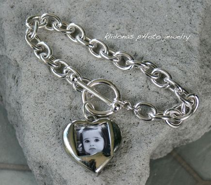 Custom Made Custom Photo Bracelet, Charm Bracelet, Photo Charm Bracelet, Photo Jewelry